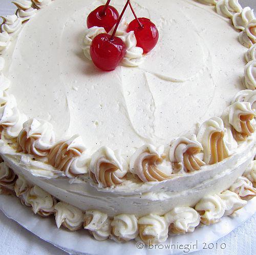 Salted Caramel & Vanilla Bean Sponge Cake